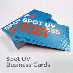 "2"" x 3.5"" Spot UV Business Cards with spot uv on the front only"