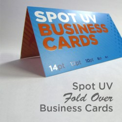 "3.5"" x 4"" Fold Over Spot UV Business Cards with spot uv on the front only"