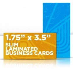"1.75"" x 3.5"" Silk Laminated Business Cards"