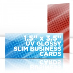 "1.5"" x 3.5"" UV Glossy Business Cards with full UV on both sides"
