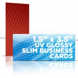 "1.5"" x 3.5"" UV Glossy Business Cards with full UV on one side"