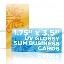 "1.75"" x 3.5"" UV Glossy Business Cards with full UV on both sides"
