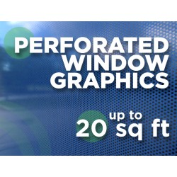 See Through Window Graphics - up to 20 square feet