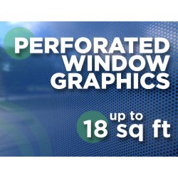 See Through Window Graphics - up to 18 square feet