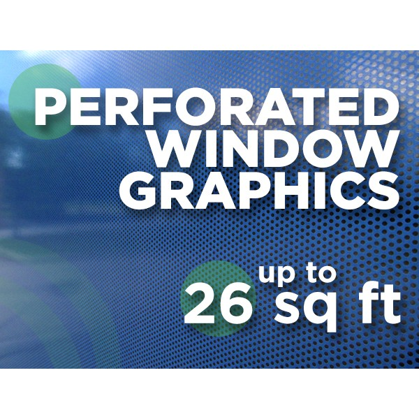 See Through Window Graphics - up to 26 square feet