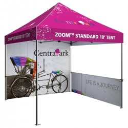 10 x 10 Custom Pop Up Event Tent with full colour backwall and sides