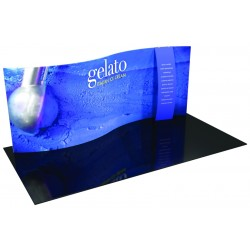 20' Serpentine Trade Show Display with Stand-off Pillow Case Graphic