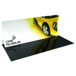 20' Vertically Curved Fabric Trade Show Display