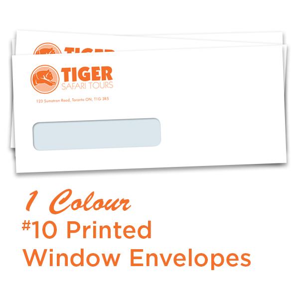 1 Colour #10 Printed Window Envelope
