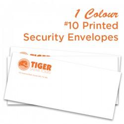 1 Colour #10 Printed Regular Security Envelope