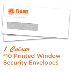 1 Colour #10 Printed Window Security Envelope