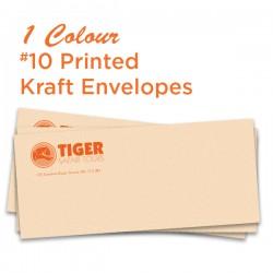 1 Colour #10 Printed Kraft Envelope