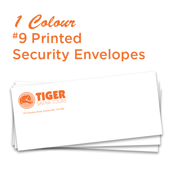 1 Colour #9 Printed  Security Envelope