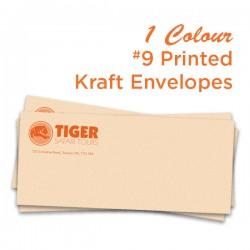 1 Colour #9 Printed Kraft Envelope