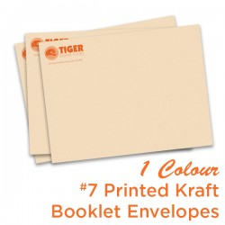 1 Colour #7 Printed Kraft Booklet Envelope