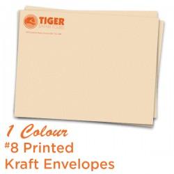 1 Colour 10 x 13 Printed Kraft Envelope