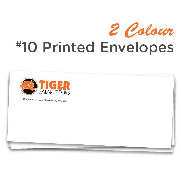 2 Colour #10 Printed Envelopes