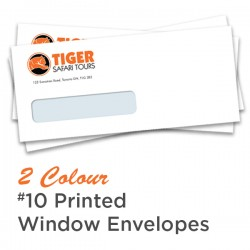 2 Colour #10 Printed Window Envelope