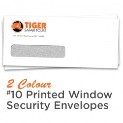 2 Colour #10 Printed Window Security Envelope