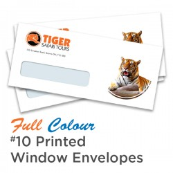 Full Colour #10 Printed Window Envelope
