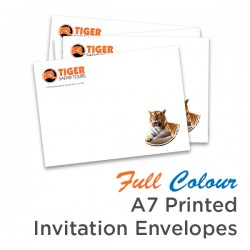 Full Colour A7 Printed Invitation Envelope