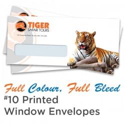 Full Colour, Full Bleed #10 Printed Window Envelopes
