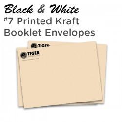 B&W #7 Printed Kraft Booklet Envelope