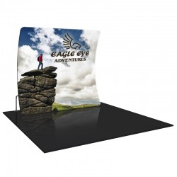 Economy 8FT Vertically Curved Fabric Trade Show Display