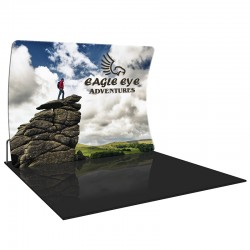 Economy 10FT Vertically Curved Fabric Trade Show Display