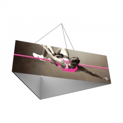 8' Triangle x 2'h Hanging Ceiling Banner