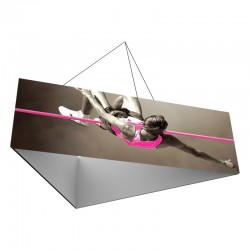 12' Triangle x 2'h Hanging Ceiling Banner