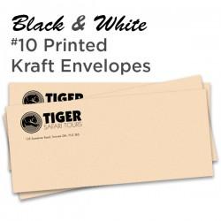B&W #10 Printed Kraft Envelope