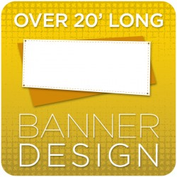 Vinyl Banner Graphic Design - over 20' long