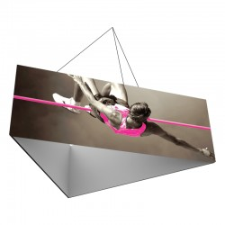 12' Triangle x 3'h Hanging Ceiling Banner