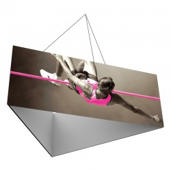 12' Triangle x 4'h Hanging Ceiling Banner