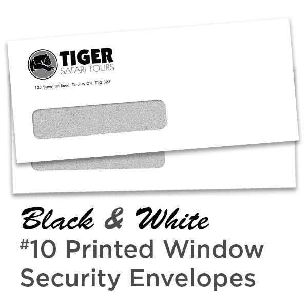 B&W #10 Printed Window Security Envelope