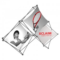 7FT Wide Multi-Panel Fabric Trade Show Display Kit 1