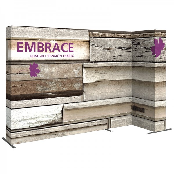 11'w L-Shape Stackable Fabric Display