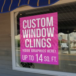Custom Window Cling Graphics - up to 14 square feet