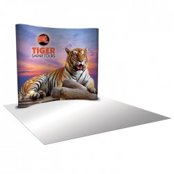 8'W x 8'H Curved Pop Up Trade Show Replacement Panels