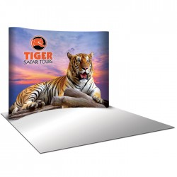 10' wide x 8' high Curved Pop Up Trade Show Replacement Panels