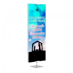 Christmas Nativity Banner Stands