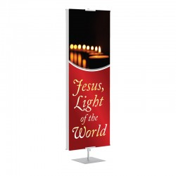 Christmas Jesus Light of the World Banner Stands
