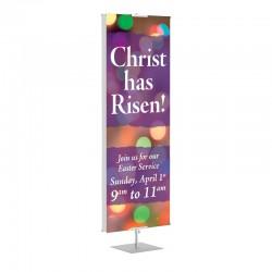 Easter Christ has Risen Banner Stands