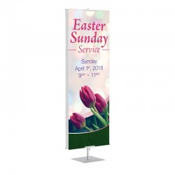 Easter Spring Flowers Banner Stands