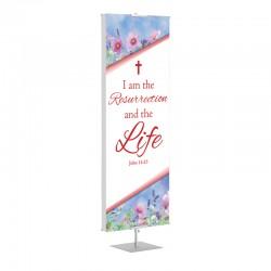 Easter Spring I am the Resurrection Banner Stands