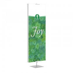 Praise Flowers Green Joy Banner Stands