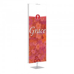 Praise Flowers Red Grace Banner Stands