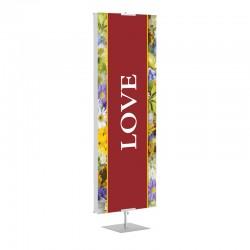 Praise Flowers Love Banner Stands