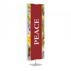 Praise Flowers Peace Banner Stands